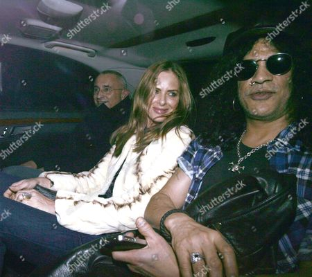Editorial image of Trinny Woodall and Slash Out and About in London, Britain - 07 Mar 2012