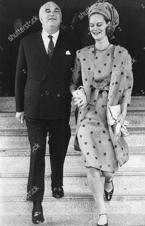 Sir George Weidenfeld with Sandra Meyer
