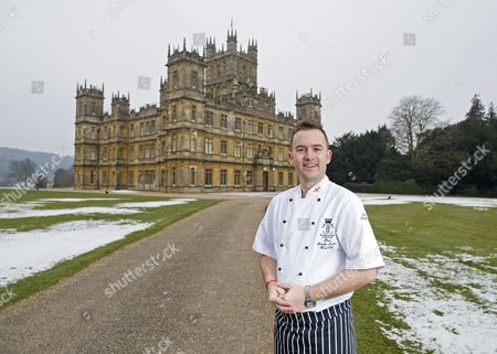 Editorial photo of Highclere Castle, the setting for the TV series 'Downton Abbey', Newbury, Britain - 09 Feb 2012