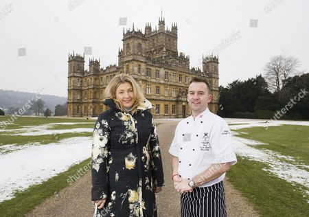 Editorial image of Highclere Castle, the setting for the TV series 'Downton Abbey', Newbury, Britain - 09 Feb 2012