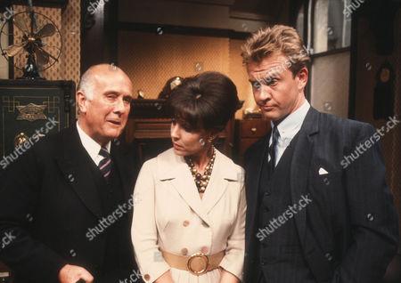 Geoffrey Chater as Mr Molyneux, Diane Keen as Daisy Jackson and Geoffrey Burridge as Joe Prince