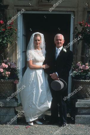 Juliette Gruber as Jo Rowan nee Weston and Bernard Gallagher as Graham Weston