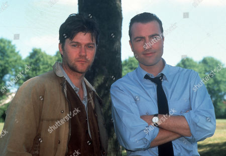 Stock Image of Wayne Foskett as Barry Rooksby and Nick Berry as PC Nick Rowan