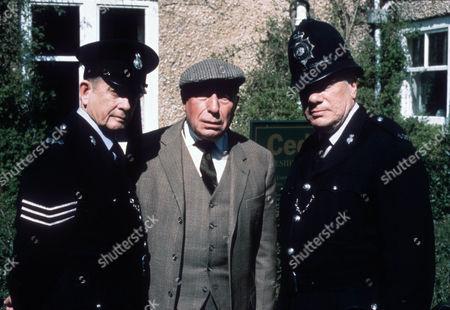 Stock Image of Derek Fowlds as Oscar Blaketon, Richard Mayes as Bill Dyson and William Simons as PC Alf Ventress