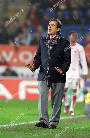 Jorge Luis Pinto, manager for Costa Rica
