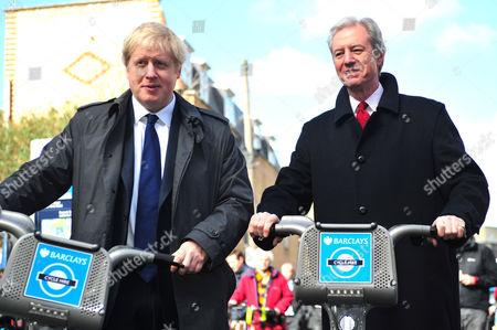 Boris Johnson and Marcus Agius, chairman of Barclays