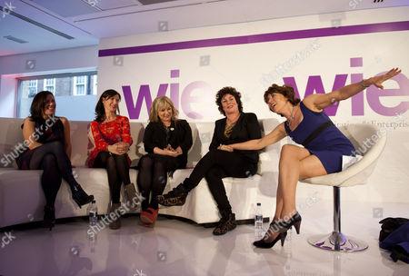 Wendy Wason, Ronni Acona, Helen Lederer, Ruby Wax and Kathy Lette