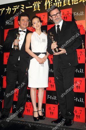 Ludovic Bource, Miki Nakatani and Michel Hazanavicius