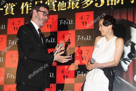 Michel Hazanavicius and Miki Nakatani