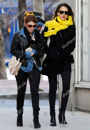 Editorial picture of Jessica Alba Out and About in New York, America - 09 Mar 2012