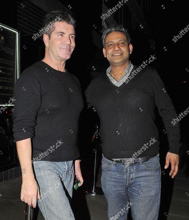 Stock Photo of Simon Cowell and Rav Singh