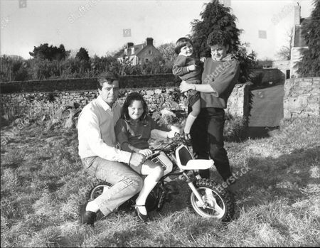 Derek Warwick Pictured At His Jersey Home With Wifee Rhonda And Daughters Also Pictured At Aero Club Prior To Flying Lessons And Driving Marie And Kelly Around Jersey