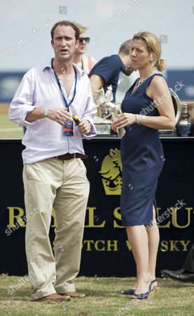 Stock Photo of Andrew Tucker (polo manager to The Duke of Cambridge and Prince Henry) Kedge Martin
