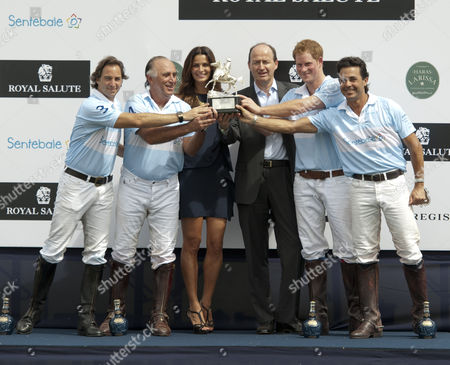Editorial picture of Prince Harry playing at Sentebale Royal Cup charity polo match, Campinas, Brazil - 11 Mar 2012