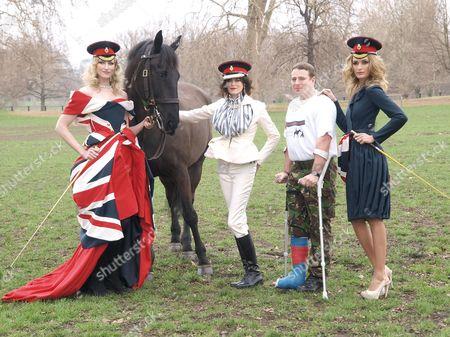 Jade Parfitt, Jasmine Guinness, Trooper Morrison and Lyza Onysko