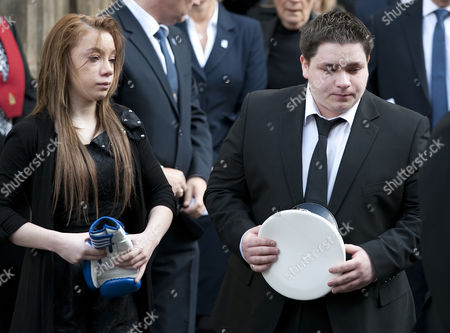 Mia Rathband (daughter) and Ashley Rathband (son) leaving Newcastle Cathedral