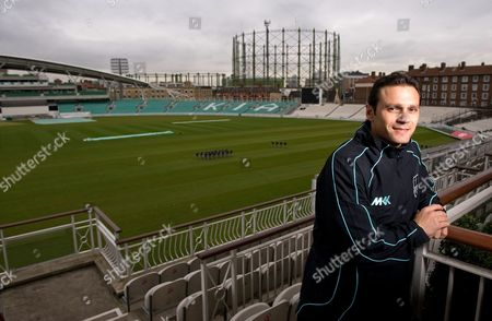 Mark Ramprakash of Surrey County Cricket Club, on the balcony of the committee room