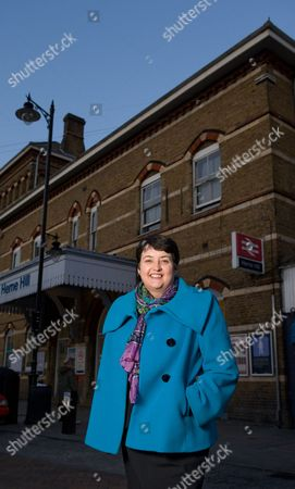 Stock Photo of Val Shawcross at Herne Hill railway station