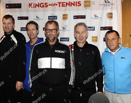 Magnus Larsson, Stefan Edberg, Thomas Muster, John McEnroe, Mikael Pernfors