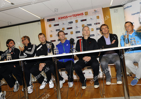 Goran Ivanisevic, Thomas Muster, Magnus Larsson, Stefan Edberg, John McEnroe, Mats Wilander, Mikael Pernfors