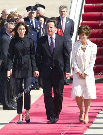 Samantha Cameron, David Cameron and US Chief of Protocol, Capricia Marshall