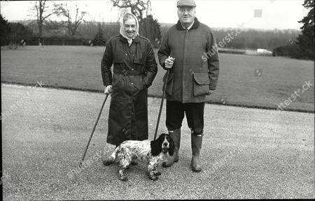 Lord William Whitelaw Politician With Wife Celia Whitelaw On Grounds Of Their Home In Cumbria 1987.