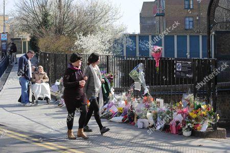 Editorial picture of Tributes for murder victim Gemma McCluskie, London, Britain - 12 Mar 2012