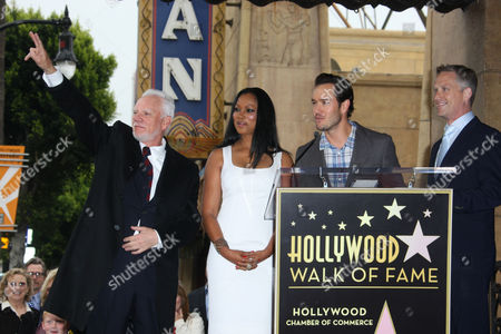 Malcolm McDowell, Garcelle Beauvais Nilon, Mark-Paul Gosselaar and Reed Diamond