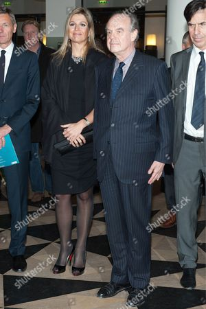 Crown Princess Maxima and French Culture Minister Frederic Mitterand