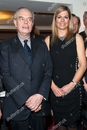 French Culture Minister Frederic Mitterand and Crown Princess Maxima