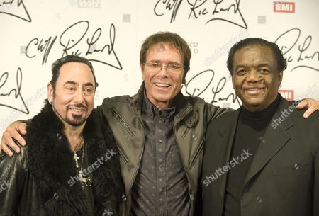 Stock Image of Sir Cliff Richard Together With David Gest (l) And Lamont Dozier Launch The Concept Of An Album That Cliff Will Make With Soul Legends Picture By Glenn Copus