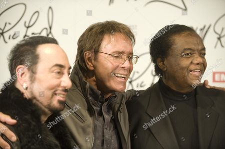 Editorial photo of Sir Cliff Richard Together With David Gest (l) And Lamont Dozier Launch The Concept Of An Album That Cliff Will Make With Soul Legends Picture By Glenn Copus