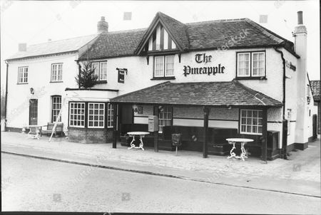 Stock Picture of The Pineapple Pub Slough Pub Once Attended By Eric Sykes And Hattie Jacques 1987.