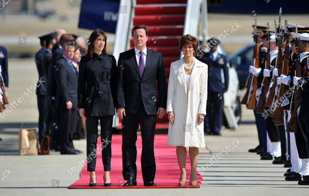 Samantha Cameron, Prime Minister David Cameron and US Chief of Protocol, Capricia Marshall