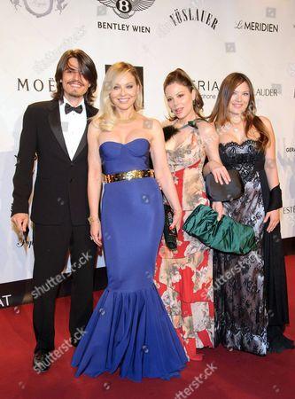 Andrea Facchinett, Ornella Muti, Carolina Muti and Naike Rivelli