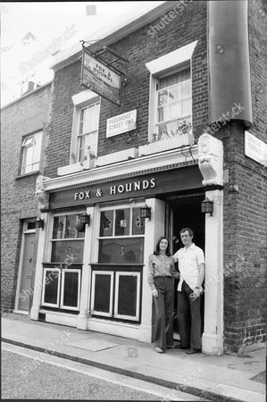 Stock Picture of The Fox And Hounds Public House Near Sloane Square West London With Licensee Diane Samuels On The Step With Barman Brian Bunce. The Pub Was Threatened With Closure At The Time.