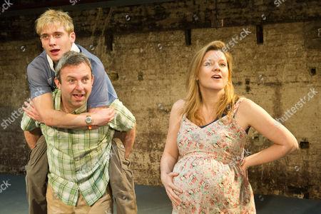 'Shivered' - Simon Lenagan as Mikey, Joseph Drake as Ryan and Olivia Poulet as Lyn.