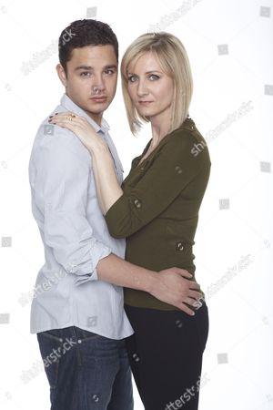 Stock Picture of Adam Barton [Adam Thomas] Ella Hart [Corrinne Wicks]