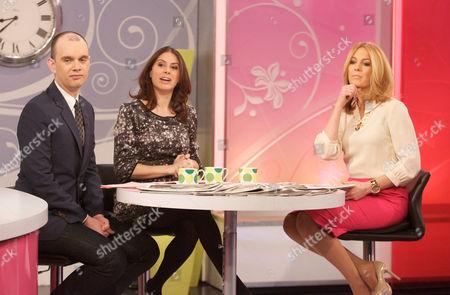 Sam Delaney and Katie Nicholl with Helen Fospero