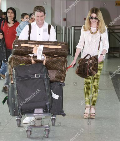 Editorial photo of Nicola Roberts Arrives at Heathrow Airport, London, Britain - 20 Mar 2012