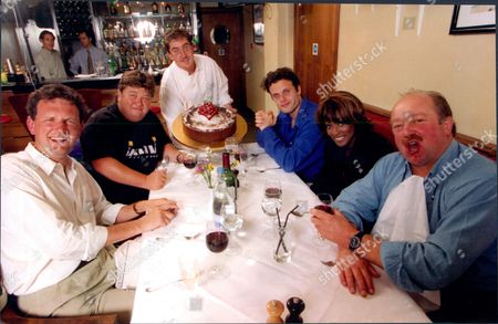 Valentine Low- Journalist Vernie Bennett-of Pop Group Eternal Jonathan Coleman- Dj Alistair Robbins- Actor Willie Poole- Farmer And Writer And Gary Dowd- Chef All At Blies Bistro And Bar Soho 1996.