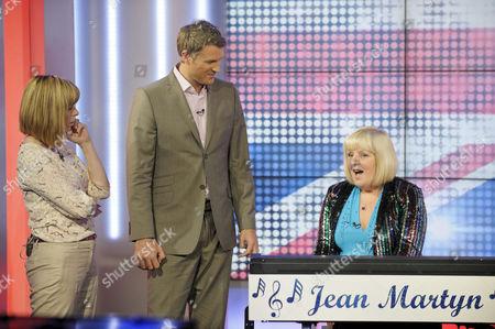 Kate Garraway and Dan Lobb with Jean Martyn