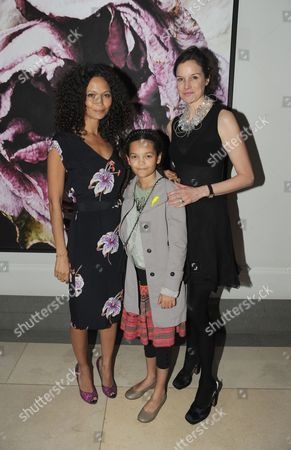 Thandiwe Newton, daughter Ripley and Elizabeth Peyton-Jones