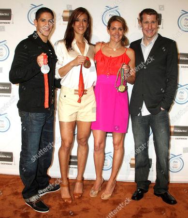 Mark Lopez, Diana Lopez, Summer Sanders and Hunter Kemper