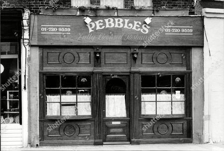 Stock Picture of Pebbles Restaurant Clapham Owned By Ted Knight (not Pictured) 1988.