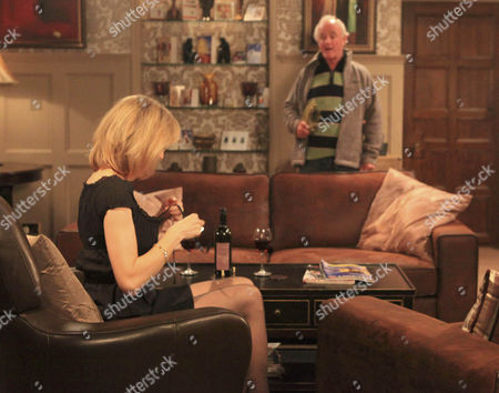 Ella Hart [Corrinne Wickes] waits for Declan Macey [Jason Merrels] in her sexiest clothes but is embarrassed when Dermott Macey [Frank Kelly] walks in first.
