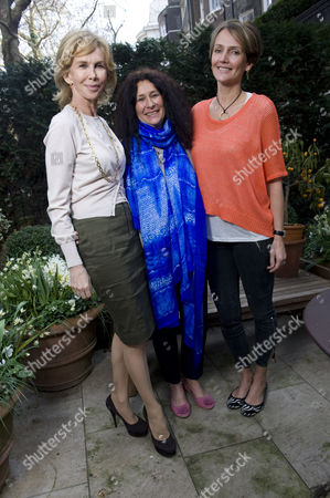 Trudie Styler with Jo Manuel, founder and director of the charity, and Saffron Aldridge