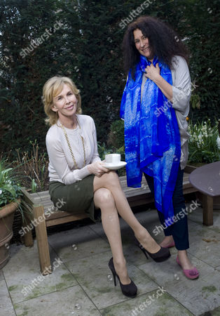 Stock Photo of Trudie Styler with Jo Manuel, founder and director of the charity