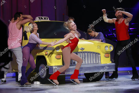 Jorgie Porter and Matt Evers skating to Fame by Irene Cara in rehearsal for the Final of Dancing On Ice