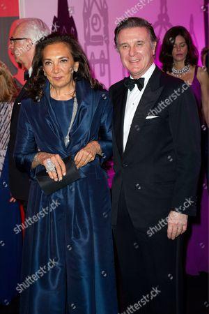 Stock Picture of Alberto Repossi and his wife